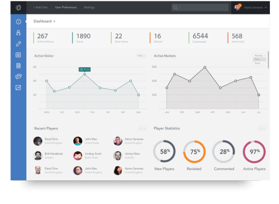 Home page dashboard image